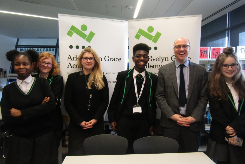 Kyla, Remmel, Tioluwani and Rebecca take part in this year's BBC News  School Report